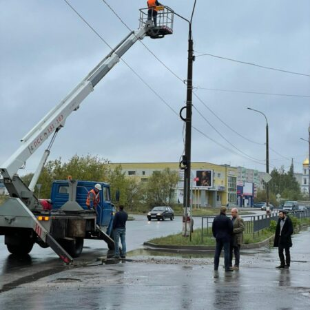 Замена вышедших из строя светильников в Дзержинске